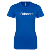 Next Level Ladies SoftStyle Junior Fitted Royal Tee-Falcon
