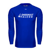 Under Armour Royal Long Sleeve Tech Tee-Dassault Falcon