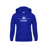 Youth Royal Fleece Hoodie-Trijet Craft Stacked - Falcon 900, Falcon 900EX, Falcon 50EX
