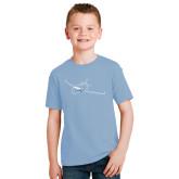 Youth Light Blue T Shirt-Sketch Jet