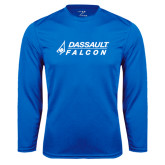 Syntrel Performance Royal Longsleeve Shirt-Dassault Falcon