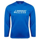 Performance Royal Longsleeve Shirt-Dassault Falcon