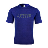 Performance Royal Heather Contender Tee-Dassault Falcon
