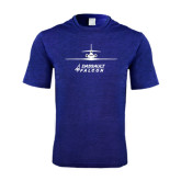 Performance Royal Heather Contender Tee-Trijet Craft Stacked - Falcon 900, Falcon 900EX, Falcon 50EX