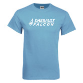 Light Blue T Shirt-Dassault Falcon