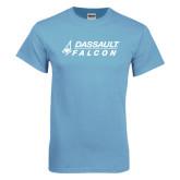 Light Blue T-Shirt-Dassault Falcon