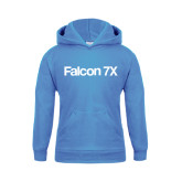 Youth Light Blue Fleece Hoodie-Falcon 7X