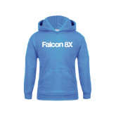 Youth Light Blue Fleece Hoodie-Falcon 8X