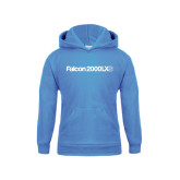 Youth Light Blue Fleece Hoodie-Falcon 2000LXS