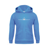Youth Light Blue Fleece Hoodie-Falcon 7X Craft