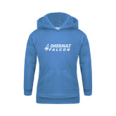 Youth Light Blue Fleece Hoodie-Dassault Falcon
