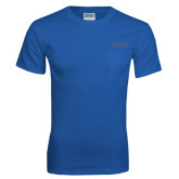 Royal T Shirt w/Pocket-Dassault Falcon