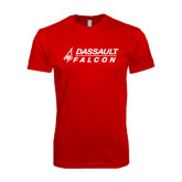 SoftStyle Red T Shirt-Dassault Falcon