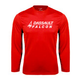 Syntrel Performance Red Longsleeve Shirt-Dassault Falcon