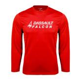 Syntrel Performance Red Longsleeve Shirt-Dassault Falcon