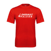Syntrel Performance Red Tee-Dassault Falcon