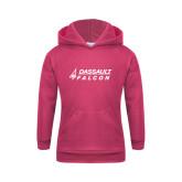 Youth Raspberry Fleece Hoodie-Dassault Falcon