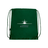 Dark Green Drawstring Backpack-Trijet Craft Stacked - Falcon 900, Falcon 900EX, Falcon 50EX