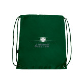 Nylon Dark Green Drawstring Backpack-Twinjet Craft Stacked - Falcon 2000, Falcon 2000EX