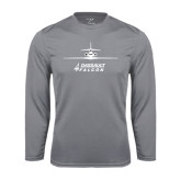 Performance Steel Longsleeve Shirt-Trijet Craft Stacked - Falcon 900, Falcon 900EX, Falcon 50EX