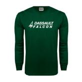 Dark Green Long Sleeve T Shirt-Dassault Falcon