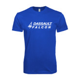 Next Level SoftStyle Royal T Shirt-Dassault Falcon