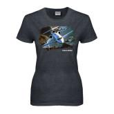Ladies Dark Heather T Shirt-Falcon 900LX Coastal