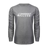 Grey Long Sleeve T Shirt-Dassault Falcon