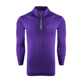 Under Armour Purple Tech 1/4 Zip Performance Shirt-Dassault Falcon