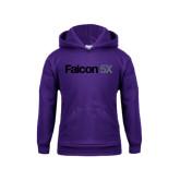 Youth Purple Fleece Hood-Falcon 5X