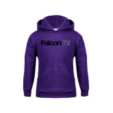 Youth Purple Fleece Hoodie-Falcon 7X