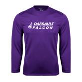 Syntrel Performance Purple Longsleeve Shirt-Dassault Falcon