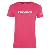 Ladies Fuchsia T Shirt-Falcon 6X