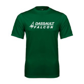 Performance Dark Green Tee-Dassault Falcon