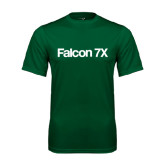 Performance Dark Green Tee-Falcon 7X