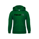 Youth Dark Green Fleece Hoodie-Falcon 7X
