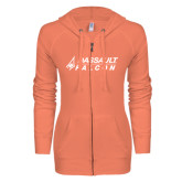 ENZA Ladies Coral Light Weight Fleece Full Zip Hoodie-Dassault Falcon