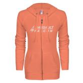 ENZA Ladies Coral Light Weight Fleece Full Zip Hoodie-Dassault Falcon