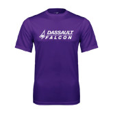 Performance Purple Tee-Dassault Falcon