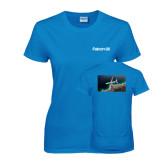 Ladies Sapphire T Shirt-Falcon 8X