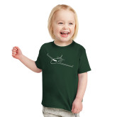 Toddler Dark Green T Shirt-Sketch Jet
