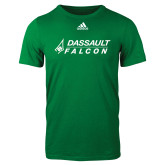Adidas Kelly Green Logo T Shirt-Dassault Falcon