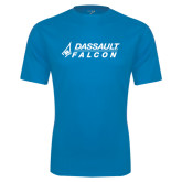Syntrel Performance Light Blue Tee-Dassault Falcon