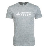 Next Level SoftStyle Heather Grey T Shirt-Dassault Falcon