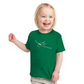 Toddler Kelly Green T Shirt-Sketch Jet