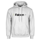 White Fleece Hoodie-Falcon