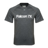 Under Armour Carbon Heather Tech Tee-Falcon 7X