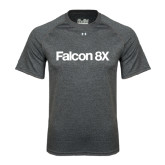 Under Armour Carbon Heather Tech Tee-Falcon 8X