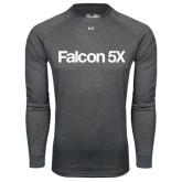Under Armour Carbon Heather Long Sleeve Tech Tee-Falcon 5X