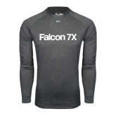 Under Armour Carbon Heather Long Sleeve Tech Tee-Falcon 7X